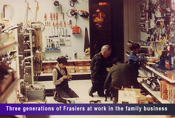 Three generations of Frasiers at work in the family business